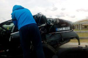 Ties Jakų žiedu vertėsi automobilis, keleivis žuvo