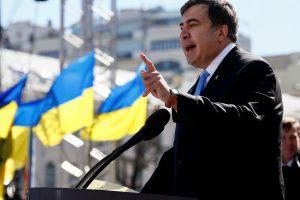 Asmeniu be pilietybės tapęs M. Saakašvilis: esu Ukrainos politikas