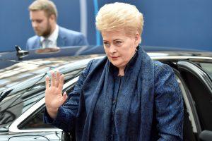 """D. Grybauskaitė su ES lyderiais apsispręs dėl kito """"Brexit"""" derybų raundo"""