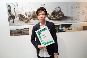 Sėkmę jaunam dizaineriui atnešė automobilio ir motociklo hibridas
