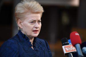 D. Grybauskaitė: Kremlius nesibodi peržengti jokių ribų