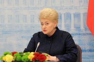 Kaip devynerius vadovavimo Lietuvai metus vertina pati D. Grybauskaitė?