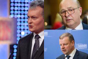 Į prezidentus žmonės rinktųsi S. Skvernelį, G. Nausėdą, V. Matijošaitį