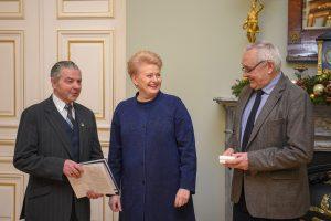 Prezidentei – pensininkų sąjungos padėka už valstybingumo stiprinimą