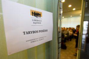 Liberalų valdyba spręs, ką daryti dėl neatitikimų renkant pirmininką