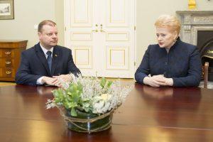 Prezidentė ir premjeras aptars Konkurencijos tarybos nario E. Šato likimą