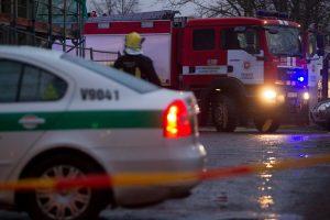 Vilniuje užsiliepsnojus šaudyklai evakuota 40 žmonių