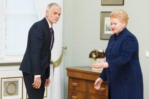 Prezidentė: abejonės dėl B. Markausko kompromituoja Vyriausybės reputaciją