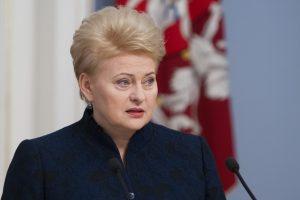 D. Grybauskaitė vetavo Civilinio kodekso pataisas dėl viešų asmenų įžeidimo