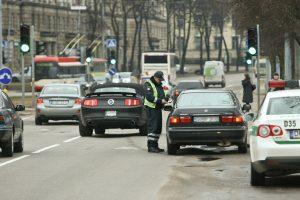 Per savaitę Vilniuje pareigūnams įkliuvo 33 neblaivūs vairuotojai