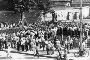 Minimas mitingo prie A. Mickevičiaus paminklo Vilniuje 30-metis