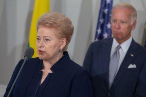 D. Grybauskaitė: tikime JAV, o ne konkrečia administracija