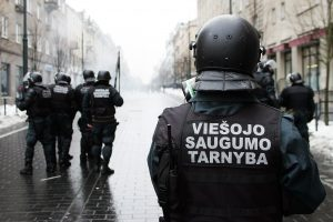 Viešojo saugumo tarnyba treniruosis dirbti kilus konfliktui