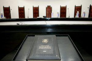 KT pradeda bylą dėl apkaltos procedūros Seimo nariui