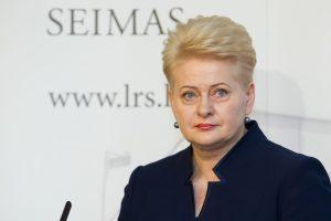Prezidentė siūlo Seimui imtis Registrų centro ir profesinio mokymo pertvarkos