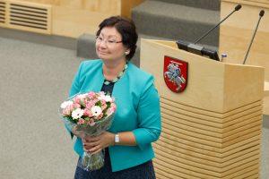 Į Seimą sugrįžta O. Valiukevičiūtė