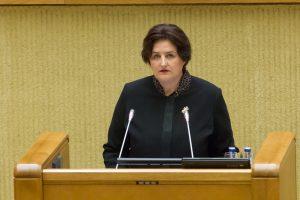 L. Graužinienė siūlo palikti sumažintas išlaidas parlamentinei veiklai