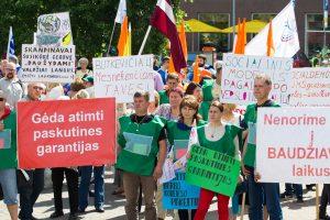 Profsąjungos vėl rengia mitingą dėl Darbo kodekso