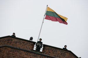 Gedimino pilies bokšto vėliava  – Viduklės S. Stanevičiaus gimnazijai