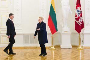 Premjeras A. Butkevičius pritrūko prezidentės dėmesio