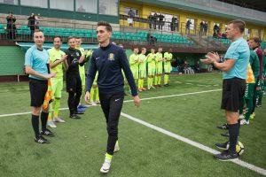 Futbolininkas D. Česnauskis deda tašką