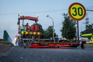 Tęsiami gatvių remonto darbai – bus laikinų eismo ribojimų