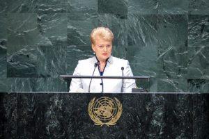 D. Grybauskaitė: Jungtinės Tautos nesusidoroja su laikmečio iššūkiais