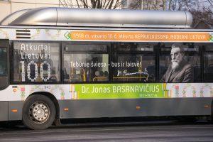 Signatarų sentencijos papuošė Vilniaus viešąjį transportą