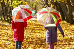 Savaitgalį raginama nepamiršti skėčių