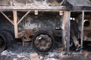 Kinijoje per gaisrą autobuse žuvo 30 žmonių