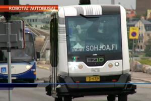 Helsinkyje jau važinėja robotizuoti mikroautobusai