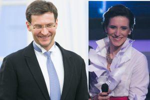 Solistė I. Prudnikovaitė ir dirigentas M. Pitrėnas susilaukė antros dukros