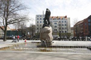 Uostamiestyje pradėjo šniokšti fontanai