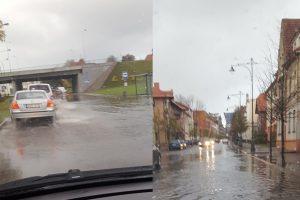 Uostamiestis vėl skęsta: smarkiai užlieta Liepų gatvė
