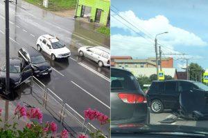Kaune pasipylė eismo nelaimės: traumas patyrė motociklininkas ir dviratininkas