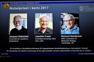 Nobelio chemijos premija – trims krioelektroninės mikroskopijos išradėjams