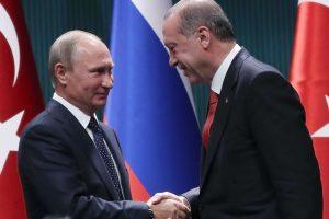 V. Putinas ir R. Erdoganas sutarė stengtis užbaigti Sirijos karą