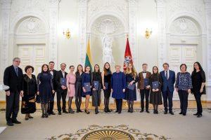 Prezidentė apdovanojo jaunuosius šalies muzikus