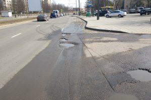 Kaunietis piktinasi: ar taip turi atrodyti neseniai tvarkyta gatvė?