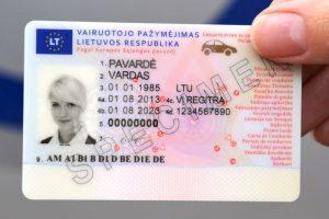 Stringa pataisos dėl vairuotojo pažymėjimo tinkamumo asmens tapatybei nustatyti