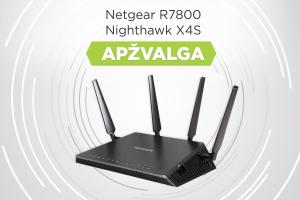 """Interneto maršrutizatoriaus """"Netgear R7800 Nighthawk X4S"""" apžvalga"""