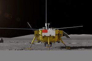 Kinijos zondas su mėnuleigiu pirmąkart nusileido nematomojoje Mėnulio pusėje