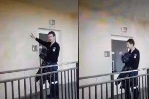 Girtas policininko uniformą vilkintis vyras prisistatinėjo komisaru