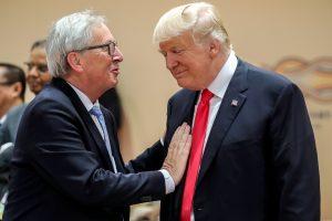 J. C. Junckeris Vašingtone susitiks su D. Trumpu: bandys stabdyti prekybos karą?