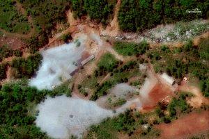 Šiaurės Korėja sunaikino savo branduolinių bandymų poligoną