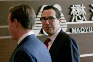 Pekine – įtemptos JAV ir Kinijos derybos dėl dvišalės prekybos