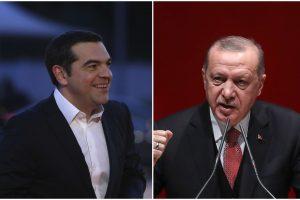 Graikijos premjeras lankosi Turkijoje: siekia sumažinti dvišalę įtampą