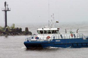 Po siautusios audros Klaipėdos uoste atnaujinama laivyba