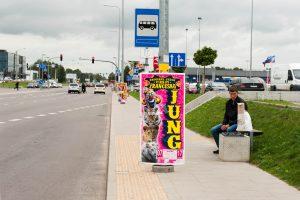Cirko reklama teršia miestą