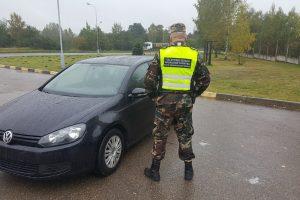 """Pasieniečių rankose – Belgijoje vogtas """"VW Golf"""""""